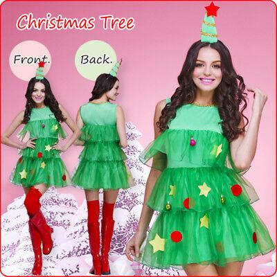2018 Christmas Costume Green Christmas Tree Costume Christmas Dress Party set - Christmas Tree Costumes