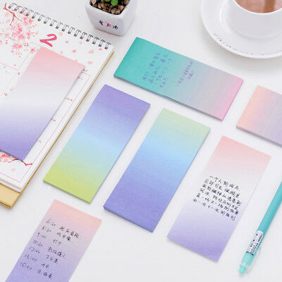 40 Pages Gradient Colorful Sticky Notes Paper Memo Notepad Stationery Sticker