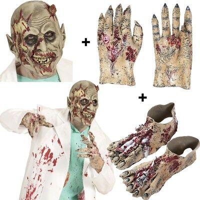 ZOMBIE Maske + Zombie Hände + Zombie Füße - Füße Kostüme Zubehör