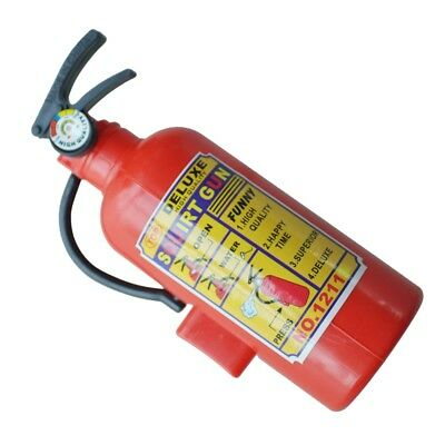 Children Red Plastic Fire Extinguisher Shaped Squirt Water Gun Toy M8J4