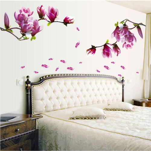 Home Decoration - Magnolia Flowers Removable Wall Sticker Art Vinyl Decal Home Decor Chic UK STOCK