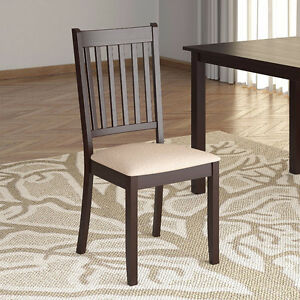 Dining Chairs with Microfiber Seat, Set of 4