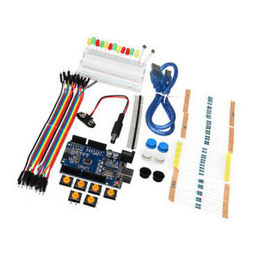 Starter Kit Uno R3 Mini Breadboard Led Jumper Wire Button For Arduino With Box U