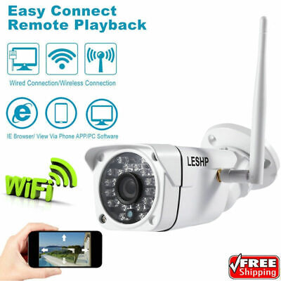 1080P Wireless WIFI IP Camera Outdoor Security Bullet 24 IR LED Night Vision US Led Bullet Camera