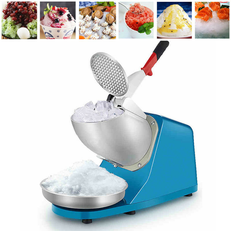 JIQI Electric Ice Shaver Machine Snow Cone Maker Crusher Shaving 220V - BLUE
