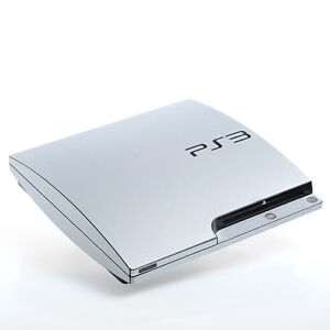 Brushed Aluminium PS3 slim Textured Skins -Full Body Wrap- decal sticker cover