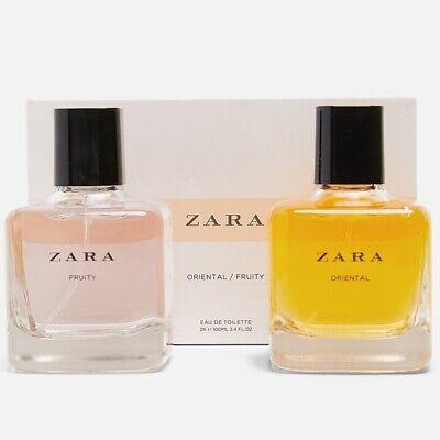 ZARA ORIENTAL + FRUITY Set for WOMEN * 2 x 3.4oz (100ml) EDT Spray NEW & SEALED