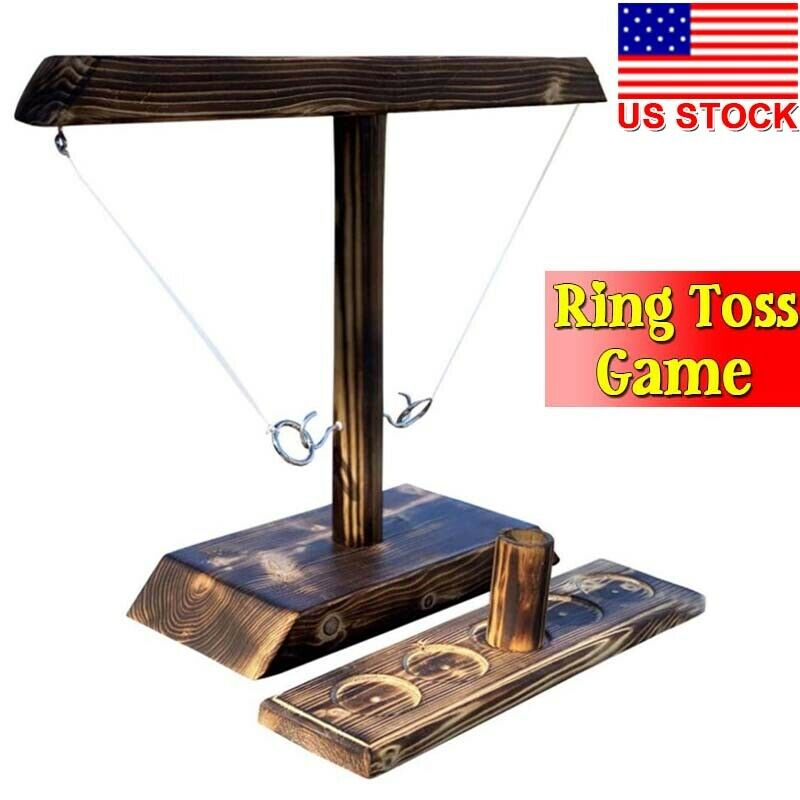 Hook & Ring Toss Games Desktop Ring Tossing Drinking Game Tossing Fun Family Bar