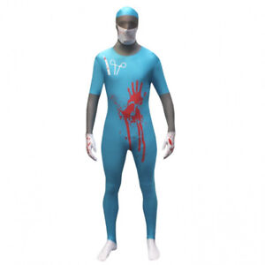 HALLOWEEN - MAD SURGEON MORPHSUITS - TURQUOISE - BRAND NEW