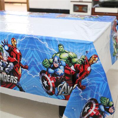 Marvel Avengers Hulk Thor Iron Man 108cm*180cm Table Cloth Happy Birthday Party