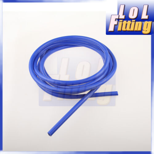 """5mm (3/16"""") Silicone Vacuum Hose Pipe """"Sold By Foot"""" High Performance Blue"""