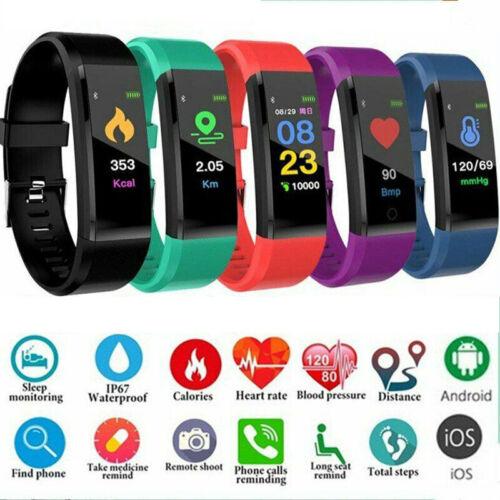Men Women Sports Bluetooth Smart Watch Fitness Tracker Brace