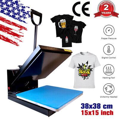 15x15 Clamshell Heat Press Machine Digital Transfer Sublimation Diy T-shirt Us