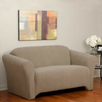 Couvre meuble Dimple HOUSSE pour causeuse  slipcover SABLE