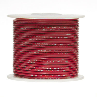 24 Awg Gauge Stranded Hook Up Wire Red 100 Ft 0.0201 Ul1015 600 Volts