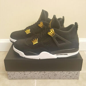 "JORDAN RETRO 4 ""ROYALTY"" - black and gold"
