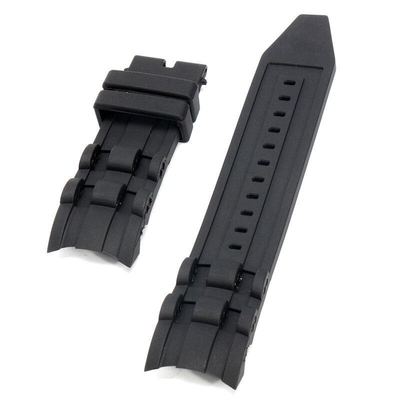 26mm Rubber Black Watch Band Strap For Invicta Pro Diver 697