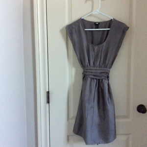 H&M Silver Dress size 4 -worn 1x at a wedding London Ontario image 1