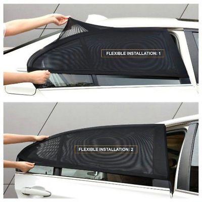 2x Car Rear Side Window Mesh Sun Visor Shade Cover Shield UV Protector