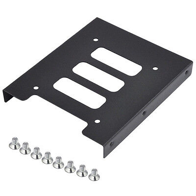 "2.5"" to 3.5"" SSD HDD Metal Adapter Mounting Bracket Hard Drive Holder for PC F7J"
