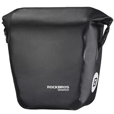 RockBros Waterproof Back Bike Panniers Bicycle Rear Rack Pack Bag 18L Black 1pcs