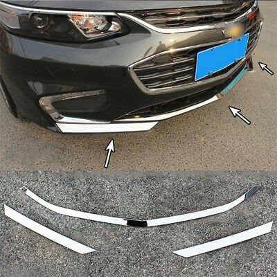 Chrome Front Bumper Light Grille Cover Trim For Chevrolet Malibu 2016-2018