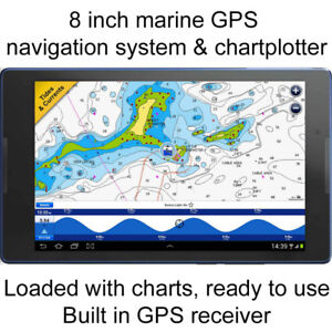 "8"" marine chartplotter GPS navigation system NAVIONICS HD charts"