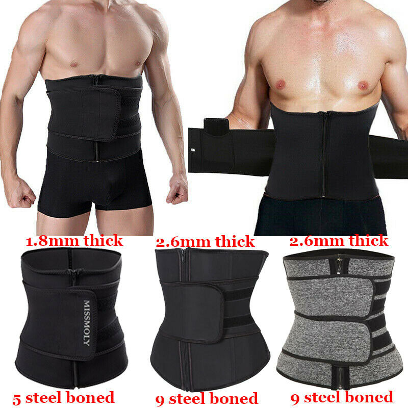 Men Waist Trainer Sauna Weight Loss Belt Slimming Body Shape