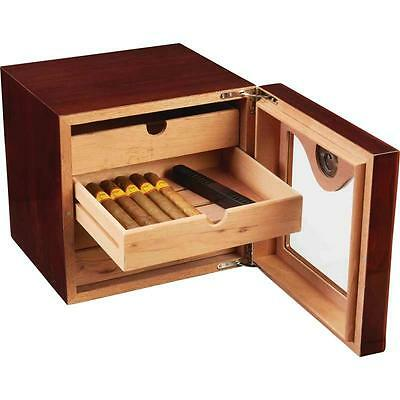 New Kassel Cedar Lined Humidor Cigar Humidifier with Hygrometer