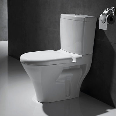 BN Toilet Close Coupled Pan Cistern White Solid Closestool Complete