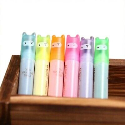 6pcs Highlighter Pens Cute Ninja Permanent Markers Fine Point Tip Novelty S