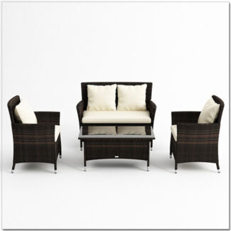 4pc PE Wicker Outdoor Furniture Set - Brown or Black (9099) Dandenong South Greater Dandenong Preview