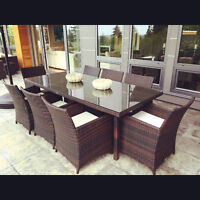 BRAND NEW Outdoor Dining table w 6 CHAIRS!