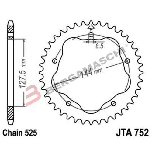 CORONA ALU 7075T6 JTA 752 z39 PAR.JTA750B DUCATI 1100