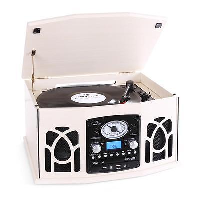 Stereoanlage mit Plattenspieler CD-Player Radio MP3-Wandler Kassette Tape USB