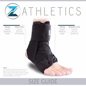 Premium Adjustable Ankle Brace, Lace Up Support- New S M L London Ontario image 6