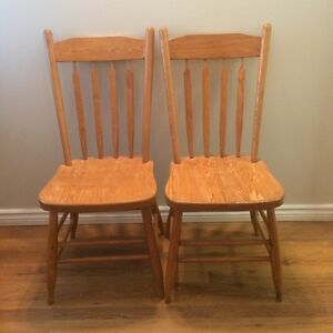 4 wood kitchen chairs