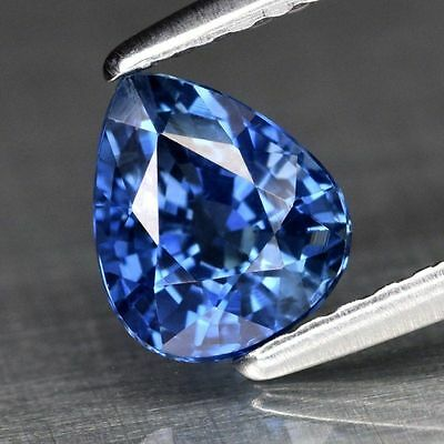 Natural 1.03ct Blue Sapphire Pear New Jewelry Gemstone Loose