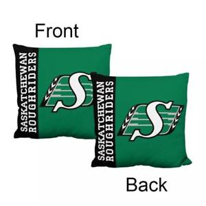 Saskatchewan Roughriders Deluxe Black Border Style Decorative Cushion Cover Without Insert (New) Calgary Alberta Preview