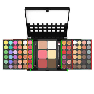 Detail about Hot 78 Colors Makeup Set Kit Eyeshadow Lip Gloss Palette Blusher  y