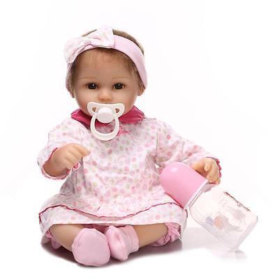 Handmade Newborn Baby Girl Soft Vinyl Silicone Realistic Reborn Doll Real Look