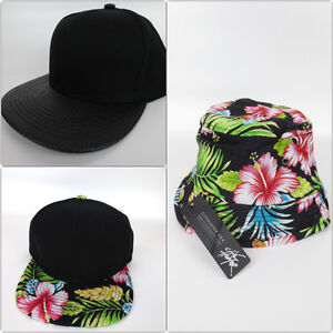 Various styles of strapback bk hats caps and bucket hats