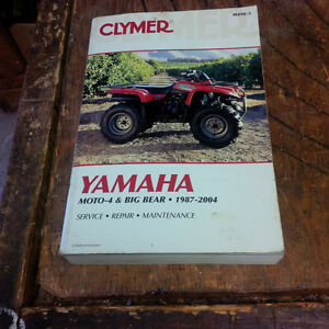 Repair manual for Yamaha FATV's 1995-2004
