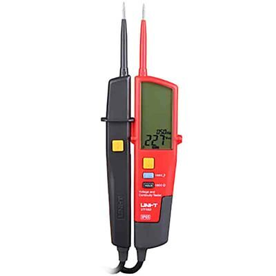 Uni-t Ut18d Auto Range Voltage And Continuity Tester With Lcd Backlight