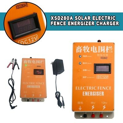 Xsd280a Solar Electric Fence Energizer Charger High Voltage Pulse Lcd Display