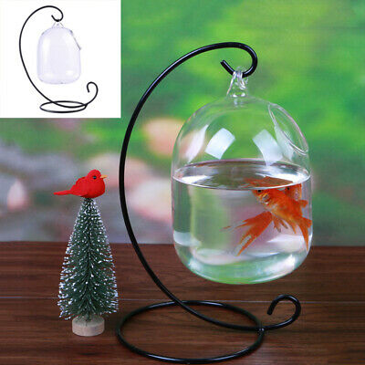 Clear Hanging Glass Aquarium Fish Bowl Fish Tank Flower Plant Vase Home Decor US