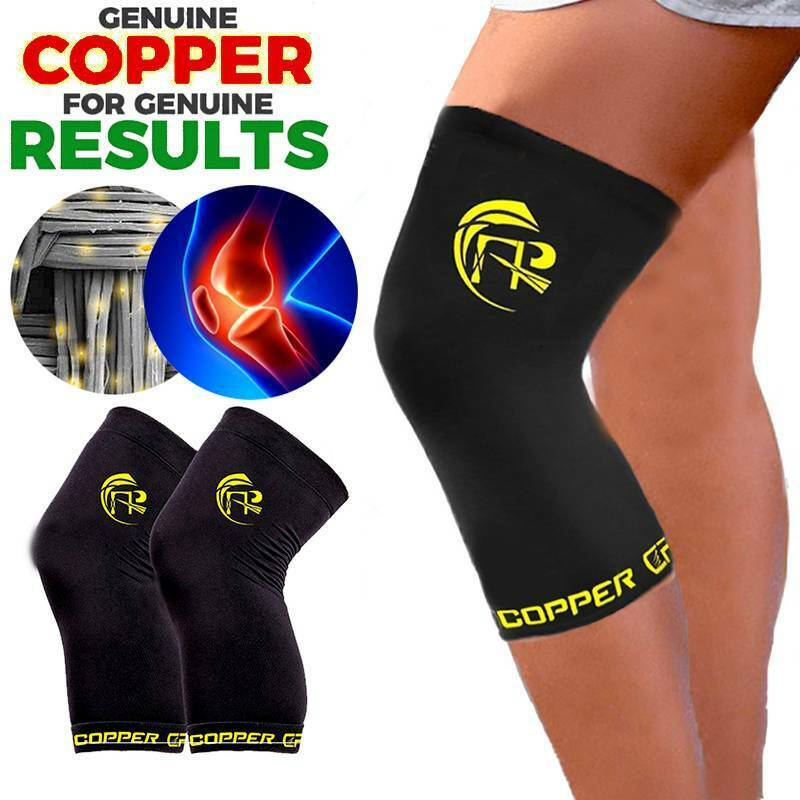 Knee Support Brace Copper Compression Joint Fit Injury Recov