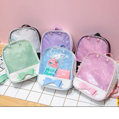 Cute Girls 6 Colors CLEAR bag Transparent itabag Backpack Ki