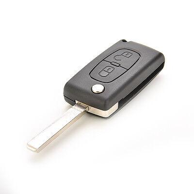 Flip Remote Key Shell for CITROEN C2 C3 C4 C5 C6 C8 2 Buttons Replacement 6F