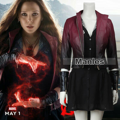 Avengers 2 Scarlet Witch Wanda Cosplay Costume Halloween Dress Women Outfit Cool](Cool Women Halloween Costumes)